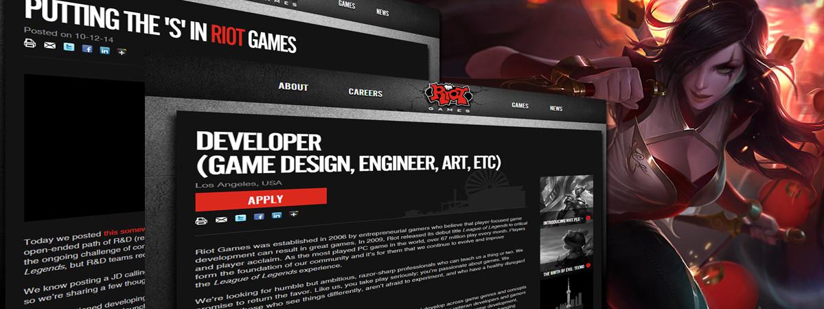 Riot Games arbeitet an einem neuen Spiel
