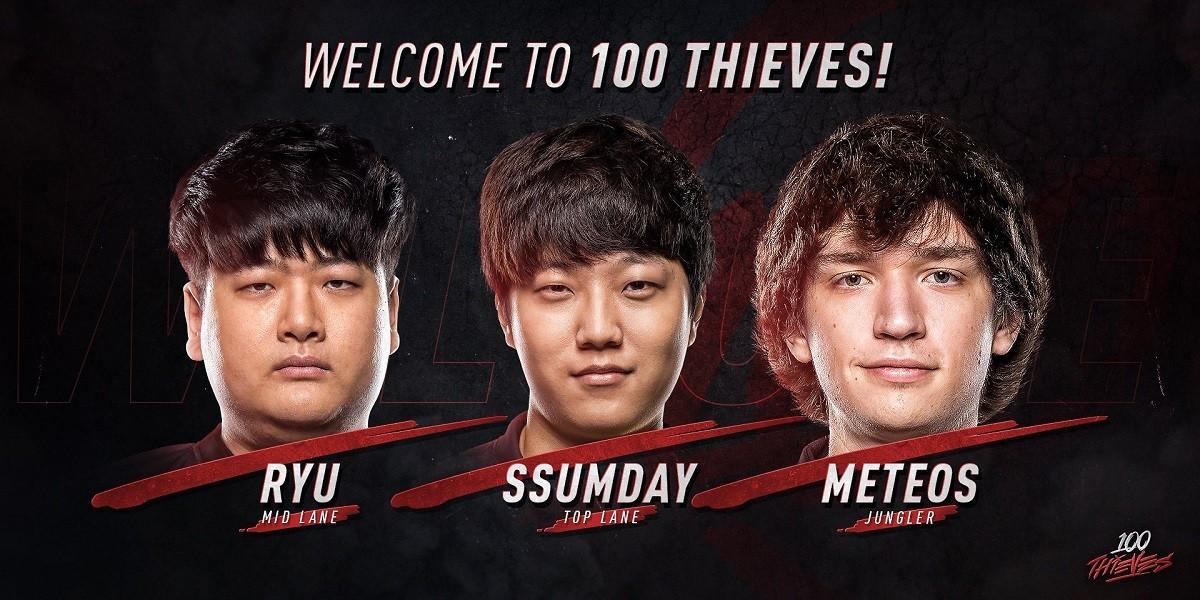 100 Thieves begrüßen Meteos, ssumday und Ryu