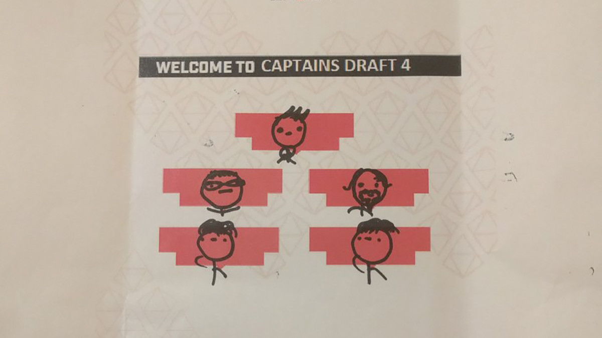 All eight of the Captains Draft 4.0 welcome letters