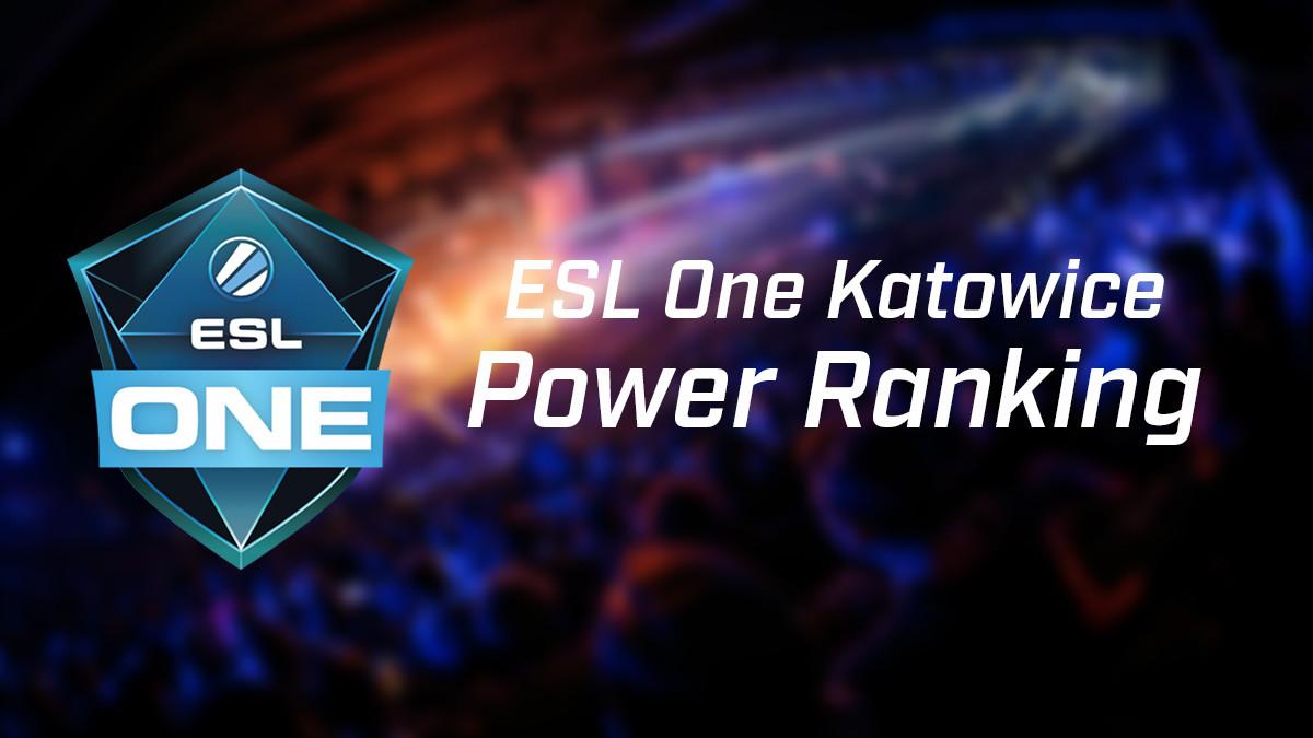 ESL One Katowice Power Ranking