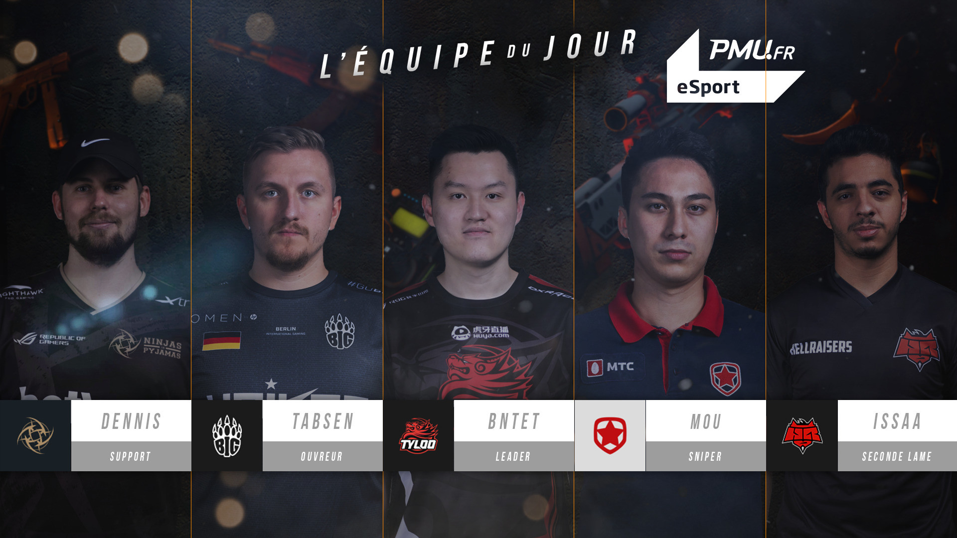 FACEIT MAJOR : L'équipe du jour #1