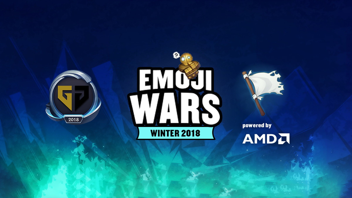 Emoji Wars: Worlds-Teilnehmer gegen die weiße Flagge