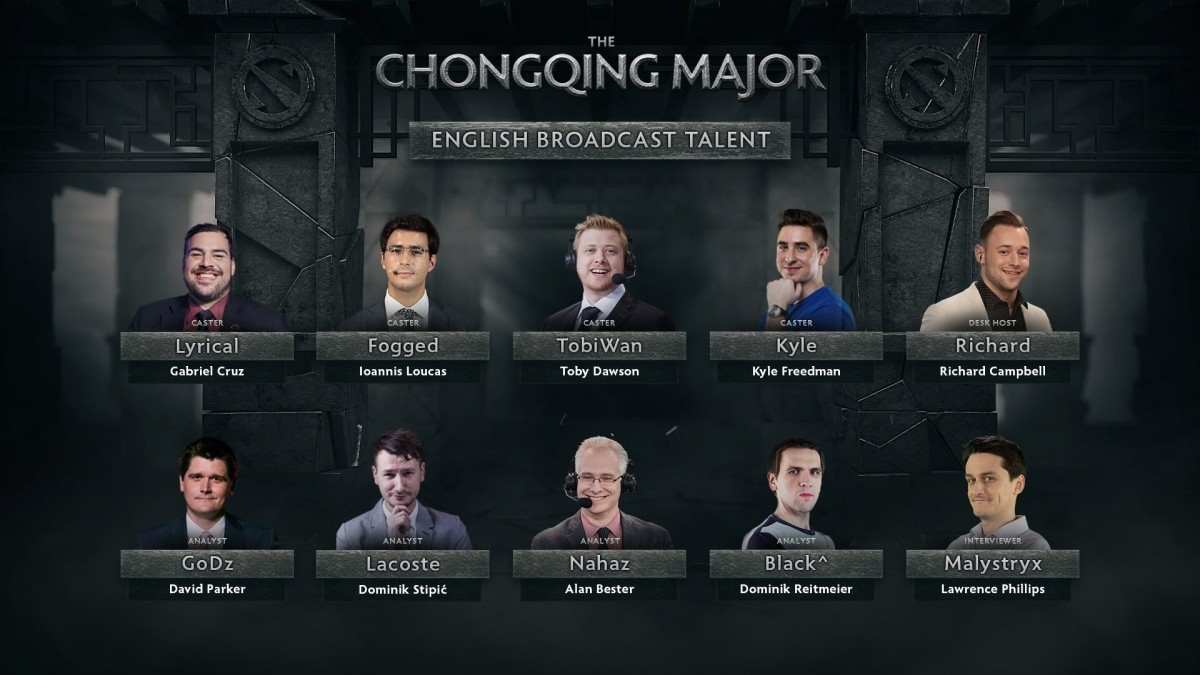 Talent announced for Chongqing Major
