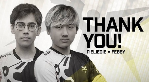 Mineski drops pieliedie and Febby from their roster