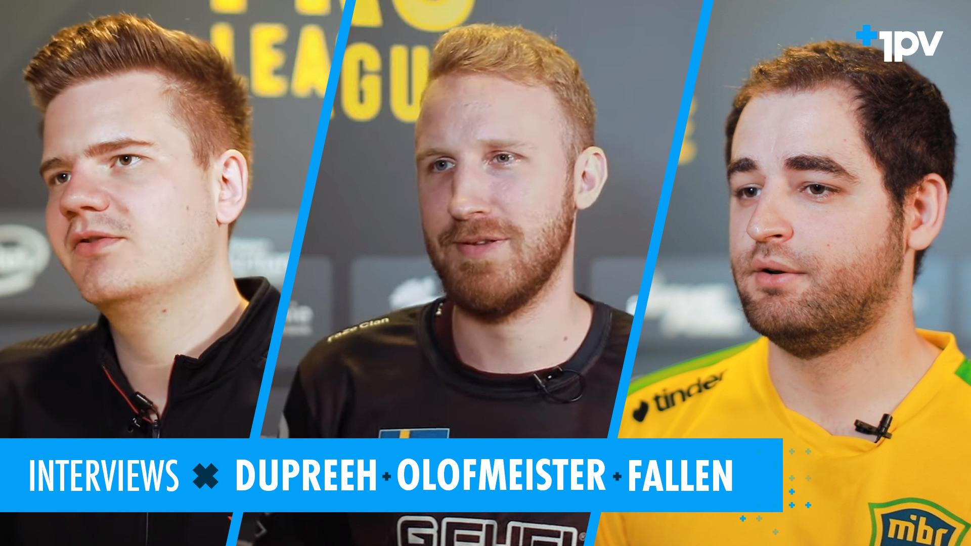 Interview avec dupreeh, olofmeister & FalleN