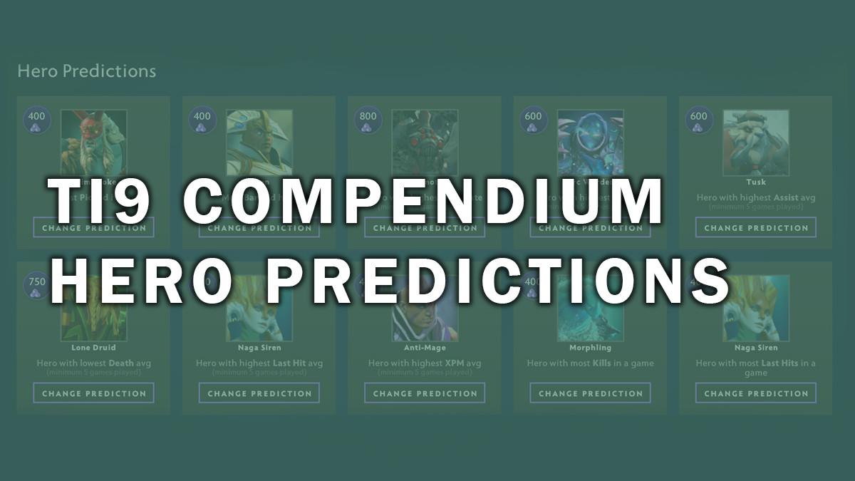 joinDOTA's TI9 hero prediction guide