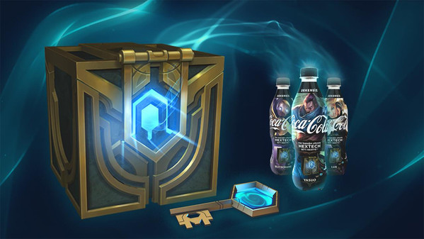 Cola-Flaschen mit LoL-Motiven und Ingame-Loot in der Türkei erhältlich