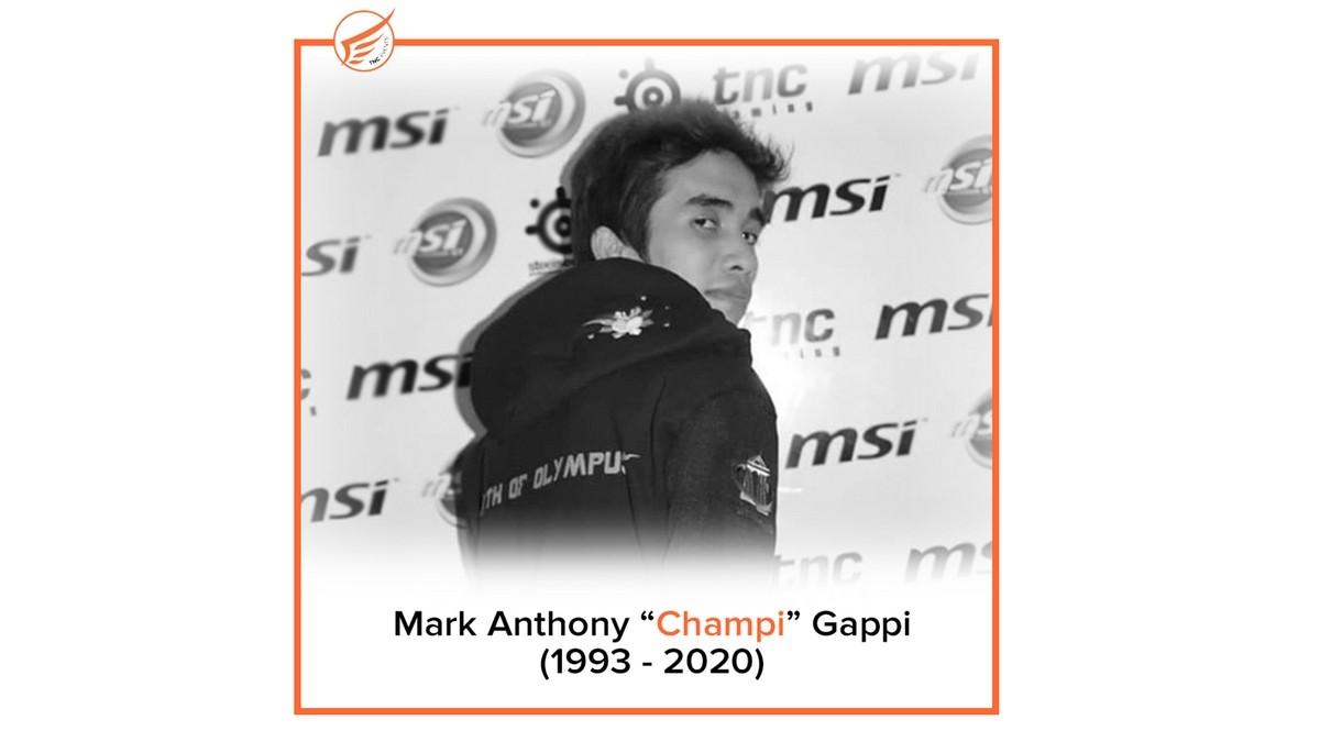 "SEA player Mark Anthony ""Champi"" Gappi has passed away"