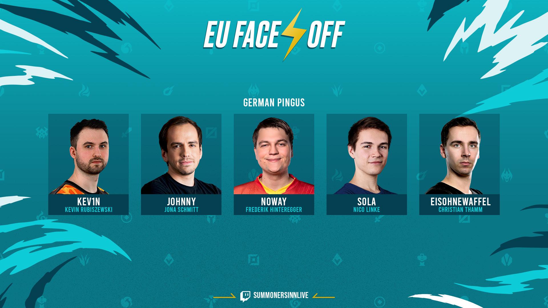 EU Face-Off: Wir schicken Johnny, NoWay und Co. ins Rennen