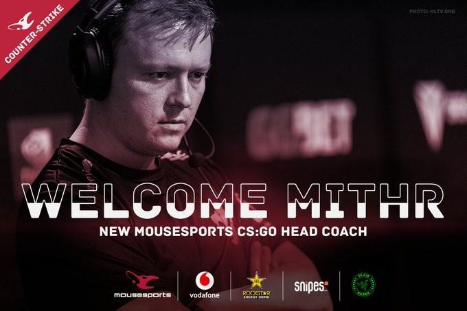 mouz recrute un nouveau coach danois