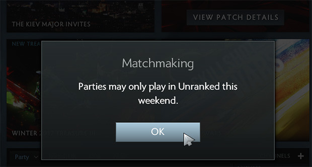 Dota matchmaking mode