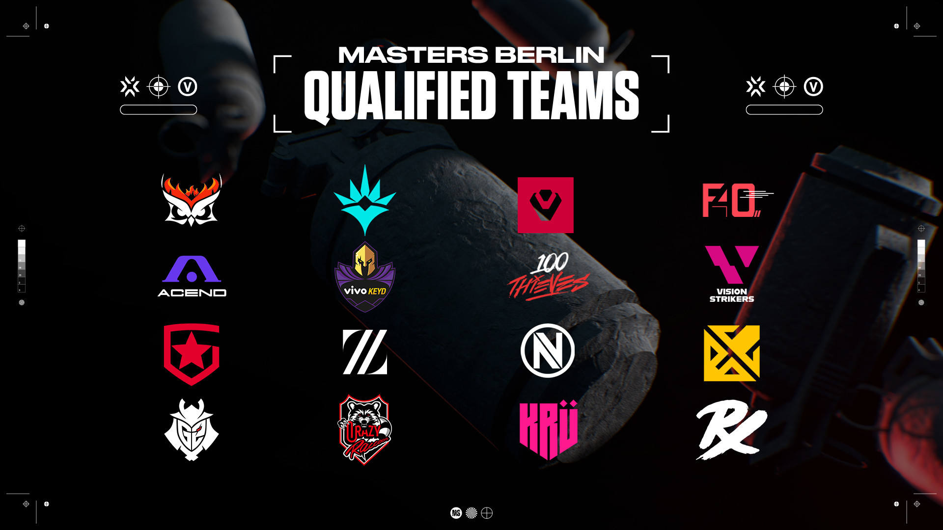 This graphic shows the 16 participants out of 7 regions for Masters Berlin