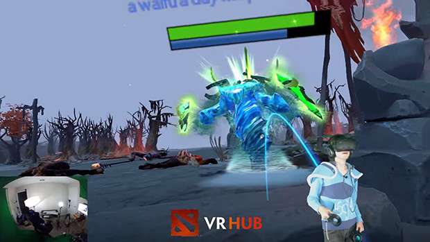 valve s dota vr hub is incredible take a peek at what it can do